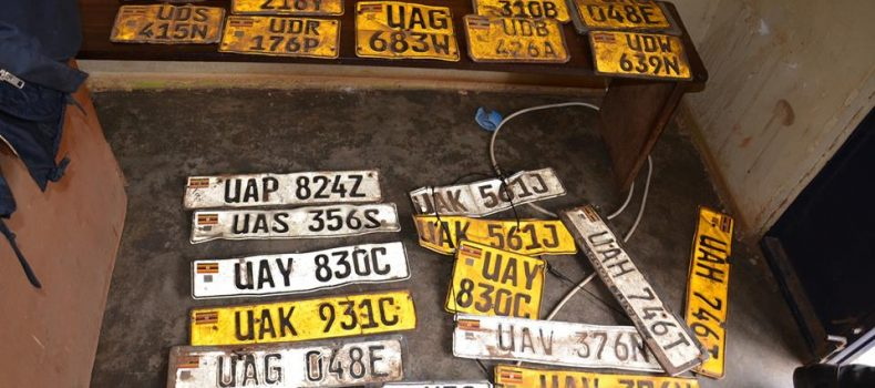 Bushenyi RDC accuse police for conniving with Vehicle number plate thieves