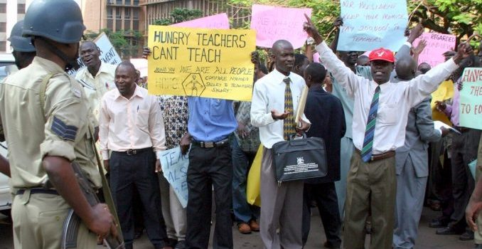 Striking teachers want explanation on whether education is no longer a priority