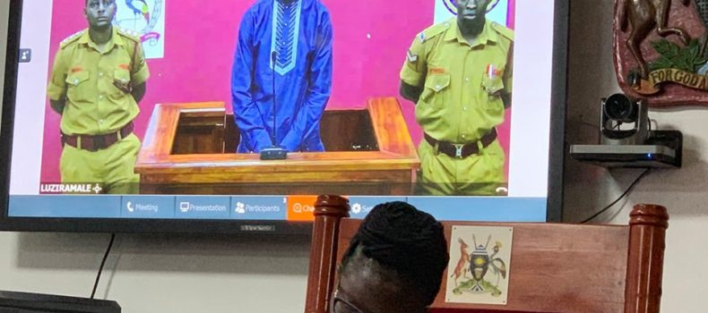 Bobi Wine proceedings held using an audio video conference system