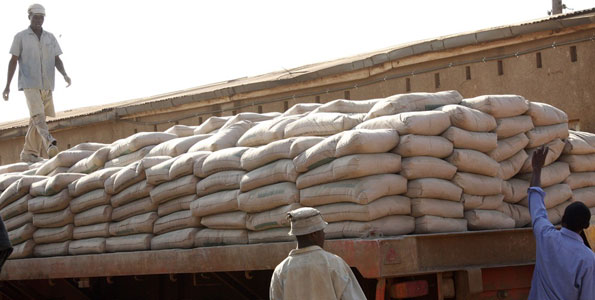 Wife arrested for stealing Cement,Husband still at large.
