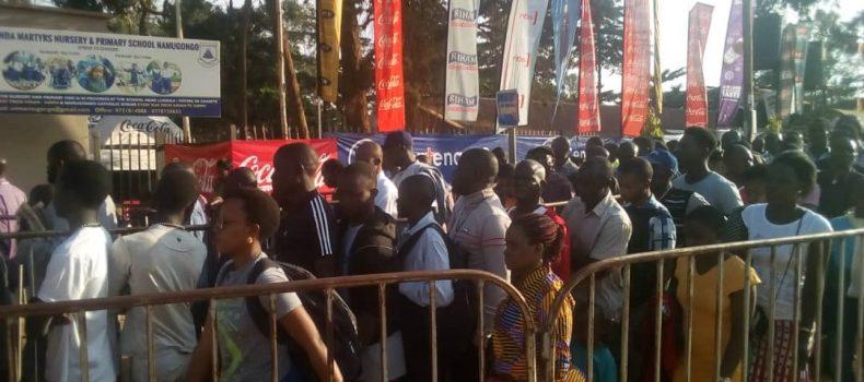 Pilgrims throng Namugongo for 55th Uganda Martyrs' Day Celebration.