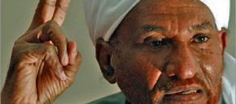 Sudan's veteran opposition leader rejects a call for nationwide mass demonstrations