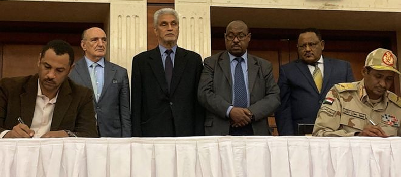 Sudan's generals and opposition leaders sign a power-sharing agreement