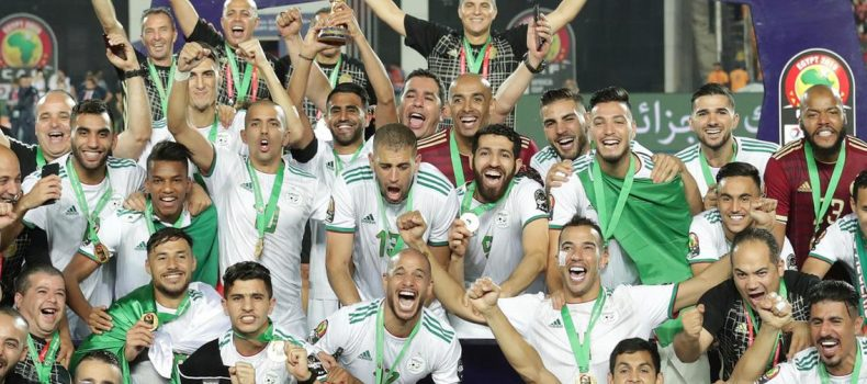Algeria parade 2019 AFCON after Benin victory