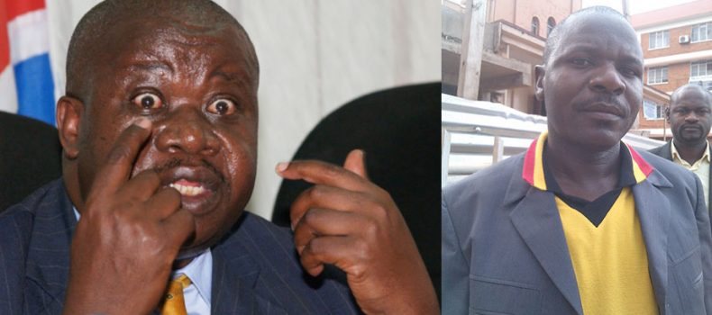 Justice and Constitutional affairs minister Gen Kahinda attacks Area Member of Parliament Kahonda.