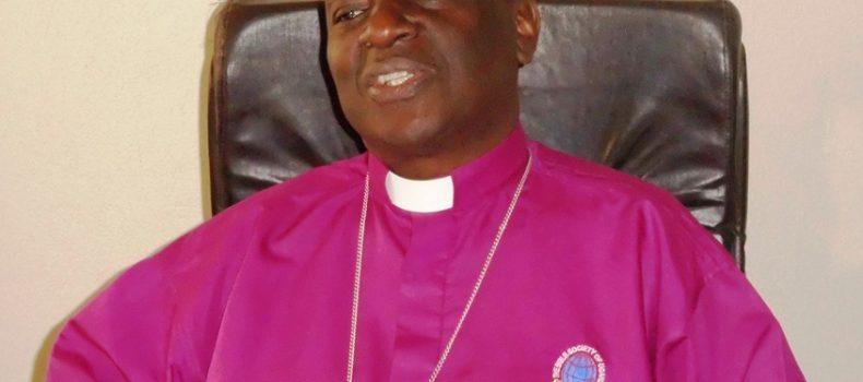 Bishop George Bagamuhunda asks farmers to use better farming methods.