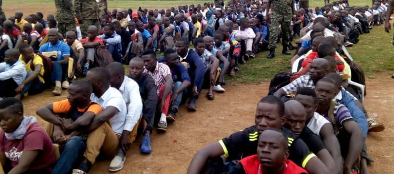 UPDF recruitment exercise kicks off with overwhelming turn up.