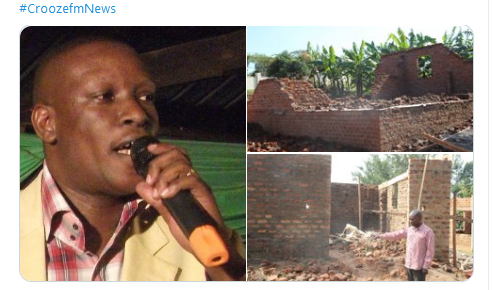 Retired Teacher whose house was demolished on orders of MP Tusiime Michael receives Shs9 m from community.