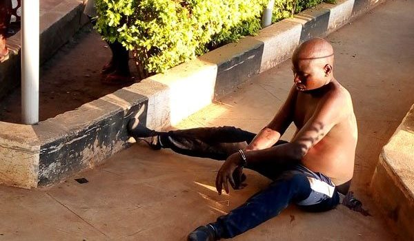 Man runs mad after a 5-kilometre road run during UPDF recruitment.