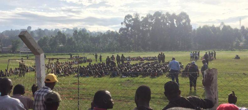 Mbarara UPDF recruitment exercise turnup overwhelms recruitment team.