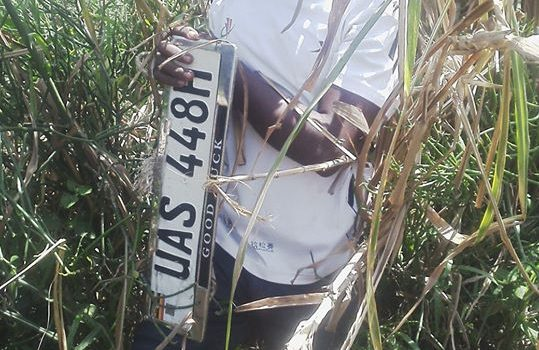 Vehicle number plates thief arrested in Kazo.