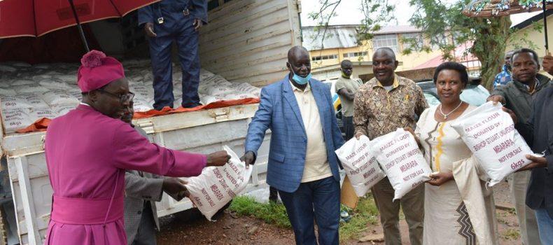 COVID_19: Bishop Stuart University donates 5 tonnes of maize flour