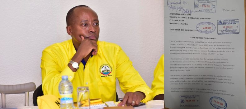 Dr. Mwesigwa Rukaari cited in Mbarara 'Fake Mask Production Centre' scandal