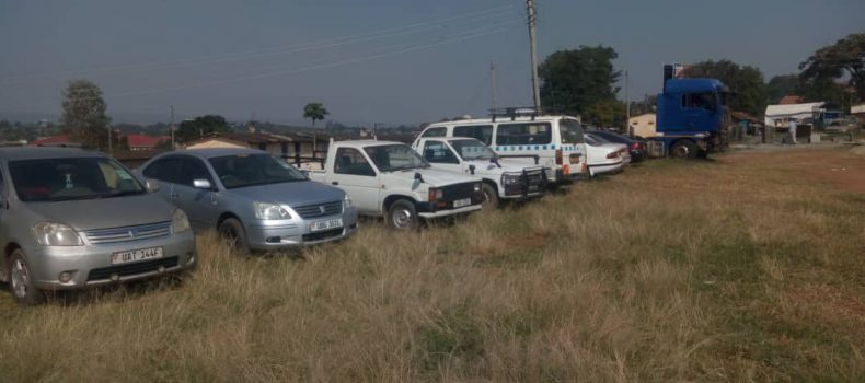 Police in Mbarara impounds Eight vehicles from border districts