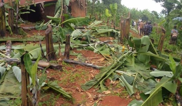 Angry Residents destroy man's house and property in Kamwenge