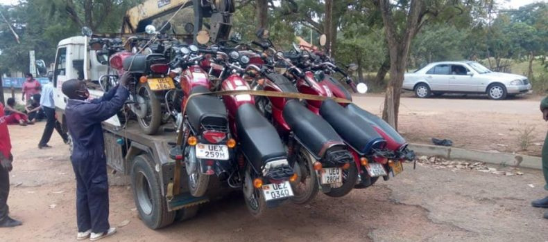 40 motorcycles impounded in Mbarara and riders arrested