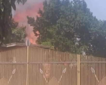 Kasubi Tombs on fire again