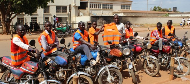 Kampala boda boda operators comply with SOPs, protest KCCA to bar them from accessing the city center