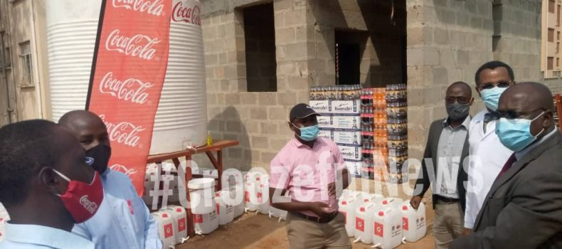 Coca-Cola donates jerrycans, water tank and drinks to Mbarara Regional Referral Hospital