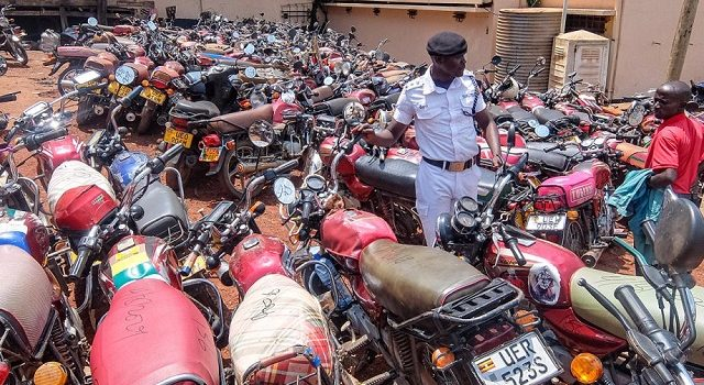 Hundreds of Motorcycles impounded in Kampala today