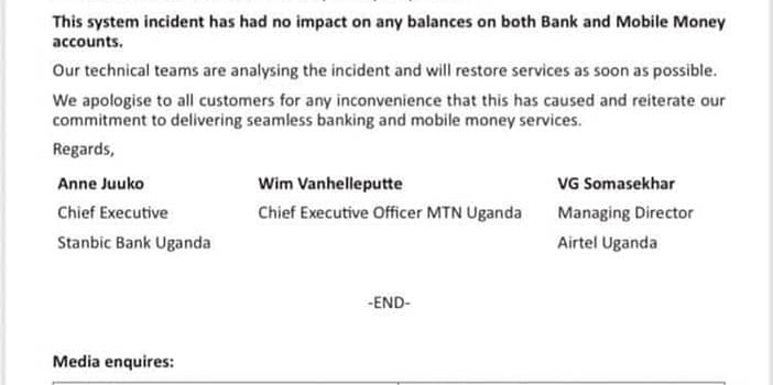 Mobile Money services suspended after suspected hackers stole unspecified amount of money