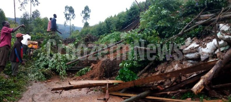 Heavy rains destroy gardens and roads in Kabale