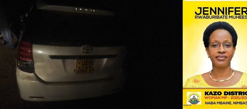 Kazo district woman representative candidate Jennifer Muheesi involved in accident