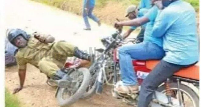 Presidential Candidate Patrick Amurita Oboi and his 'boda guy' in trouble for knocking Mbarara DPC